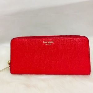 NWT Kate Spade Slim Continental Wallet hot  chili